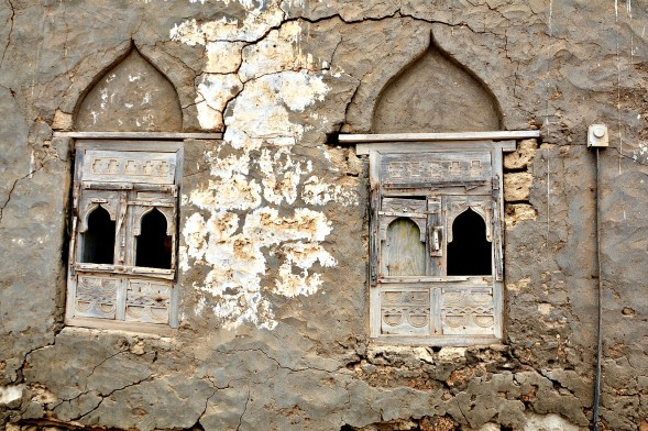 An old window in Mirbat, S. Oman
