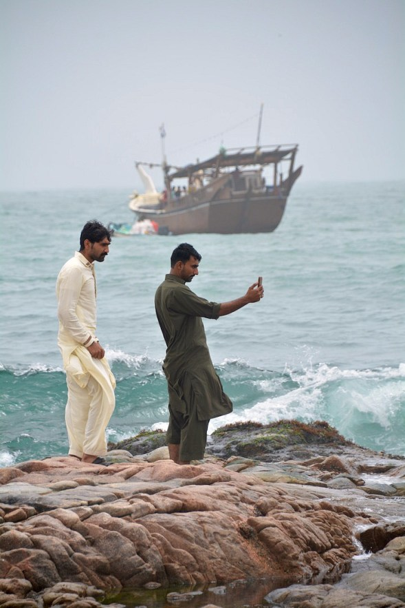 A Mirbat selfie complete with dhow...