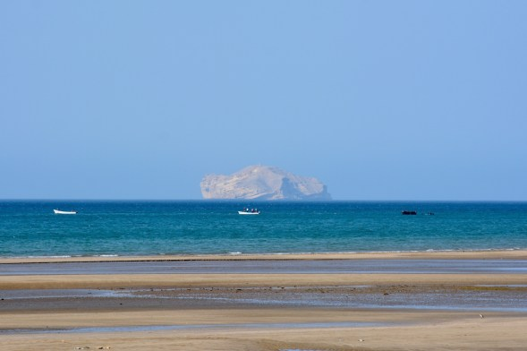 The view from Qurm beach...