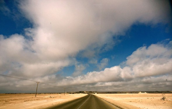 Shot on the road in Al Wusta Governorate, Oman , many thousands of miles from home, heading somewhere....