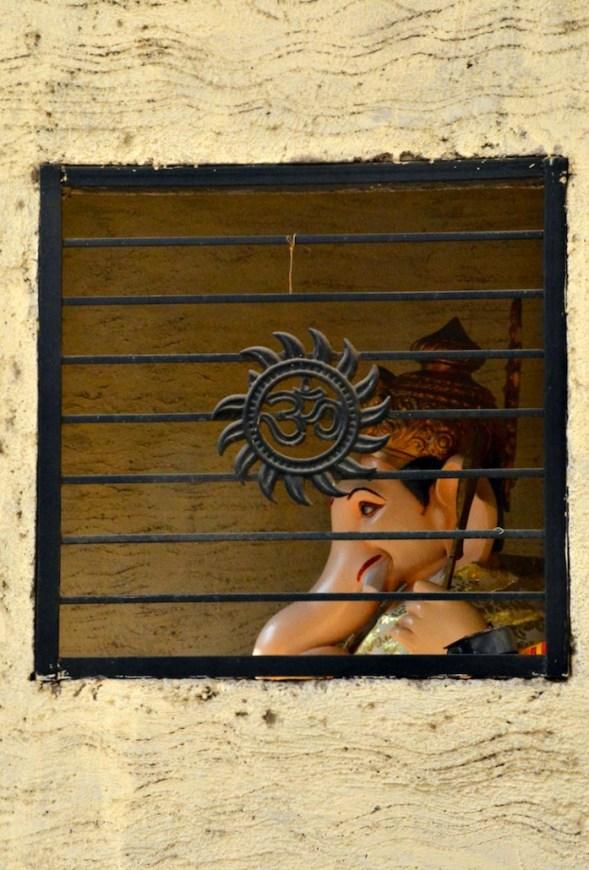 Ganesh through a window...
