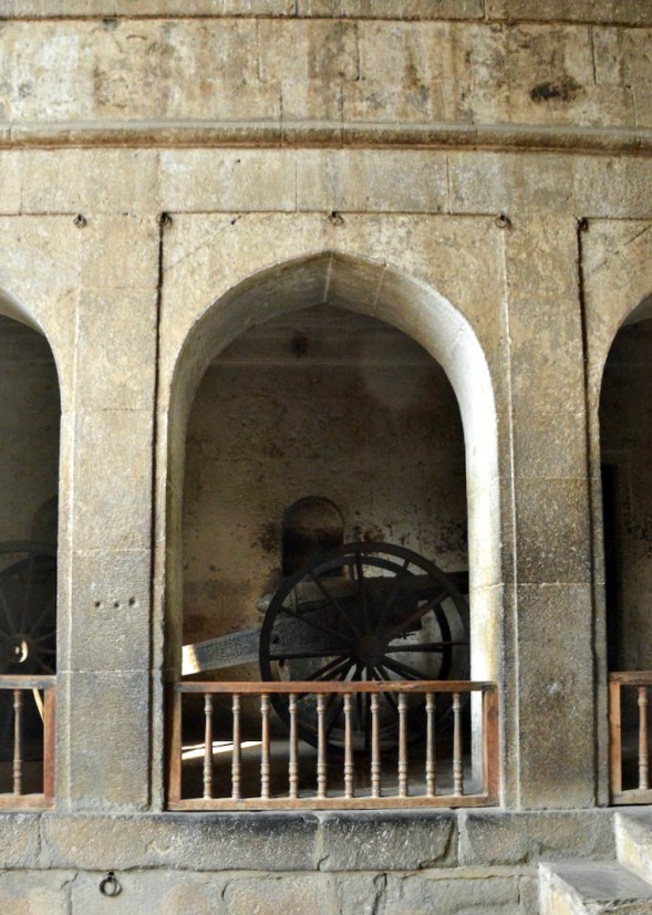 Cannons in the arches...