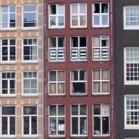 Monday Window: Window walls in old Amsterdam, 17/4/17...