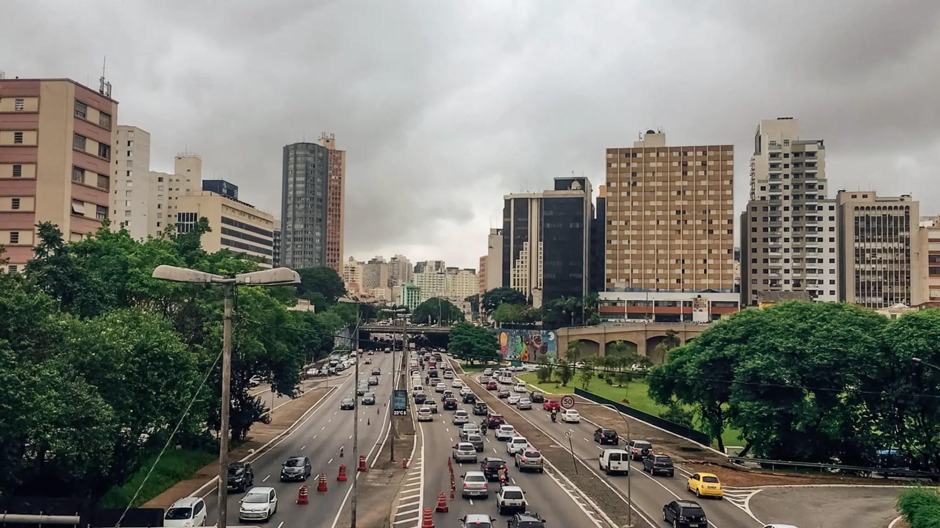 vue centre ville sao paulo brésil