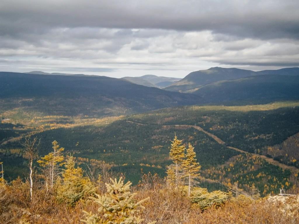 vue mont olivine parc national gaspésie