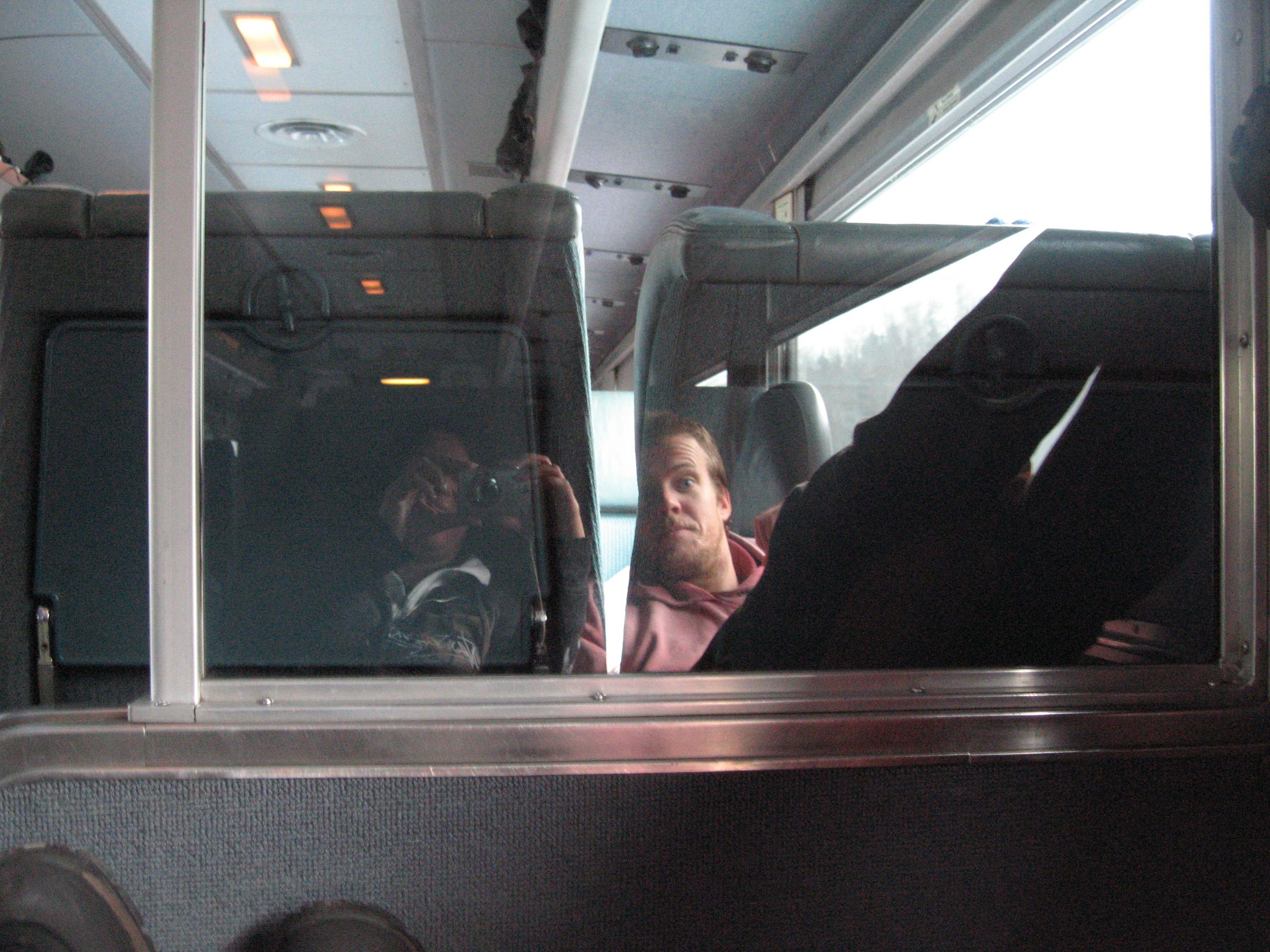 Reflection of Brandon and Me on the Train