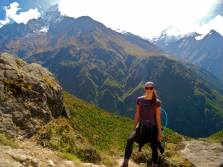 Hiking to Everest Base Camp.