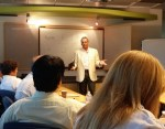 Presenting in the boardroom at the Dublin Entrepreneurial Center /photo courtesy of DEC