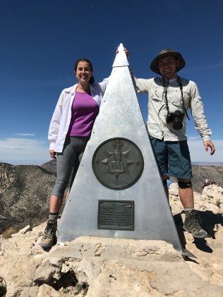 Steve and me at the summit marker
