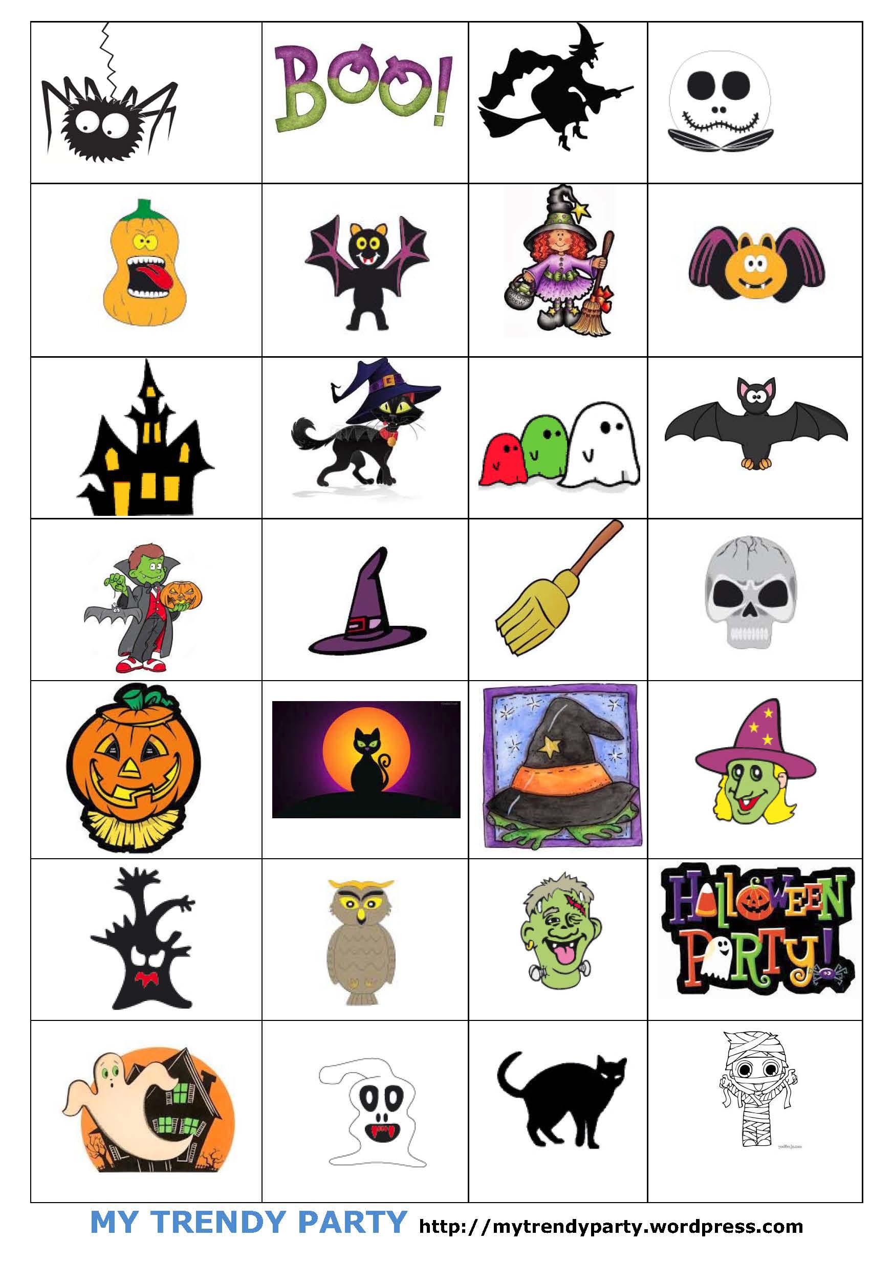 Bingo Para Halloween Juegos Para Ninos