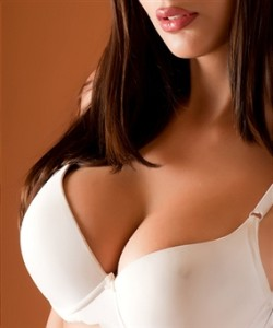 Woman with nice curvy breasts