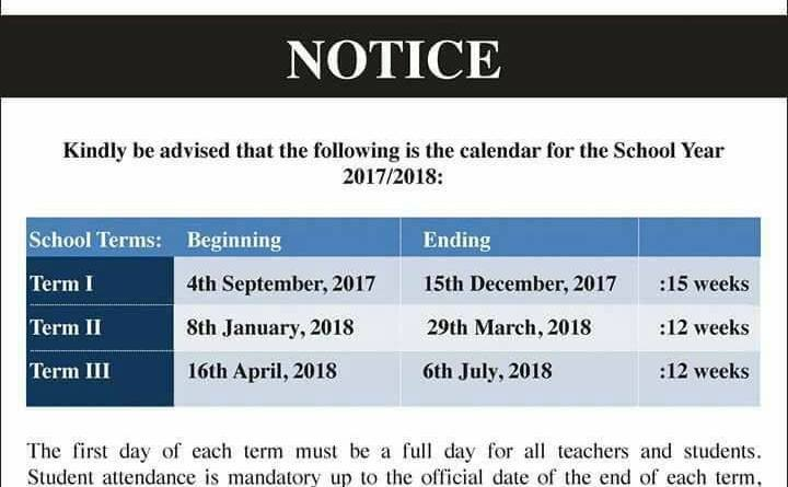 dates for the academic school year 2017 2018 trinidad and tobago