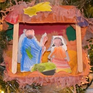 Christmas child manger
