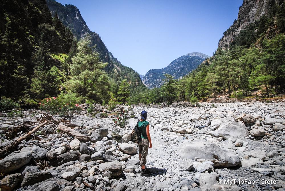 randonnée dans les gorges de Samaria