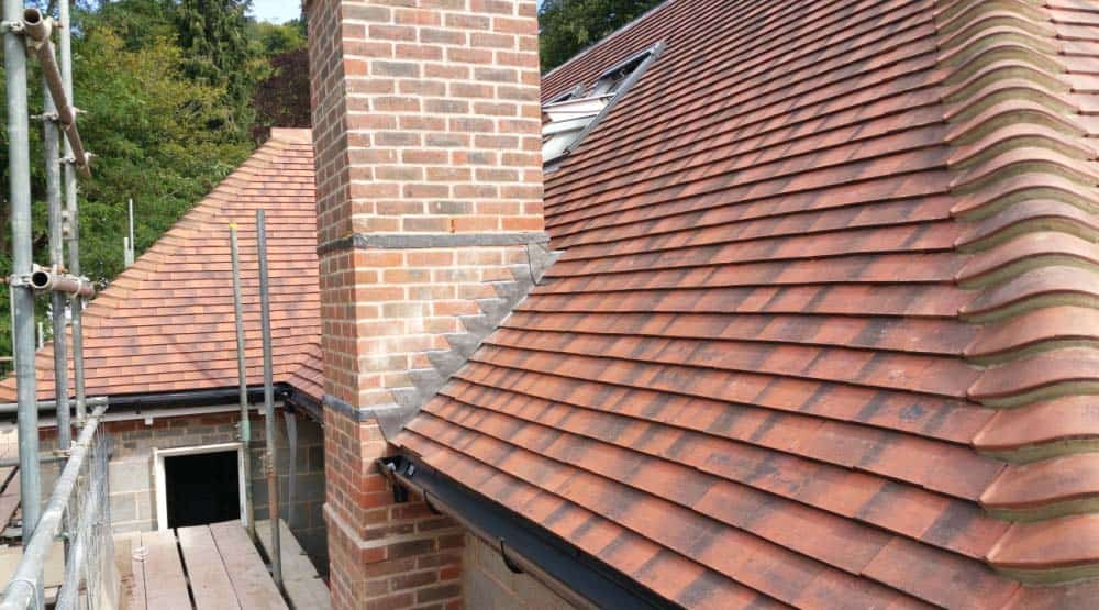 New pitched roof close-up Crawley