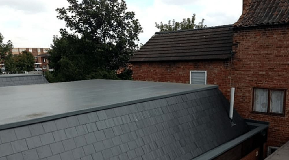 solihull roofer fibreglass roof