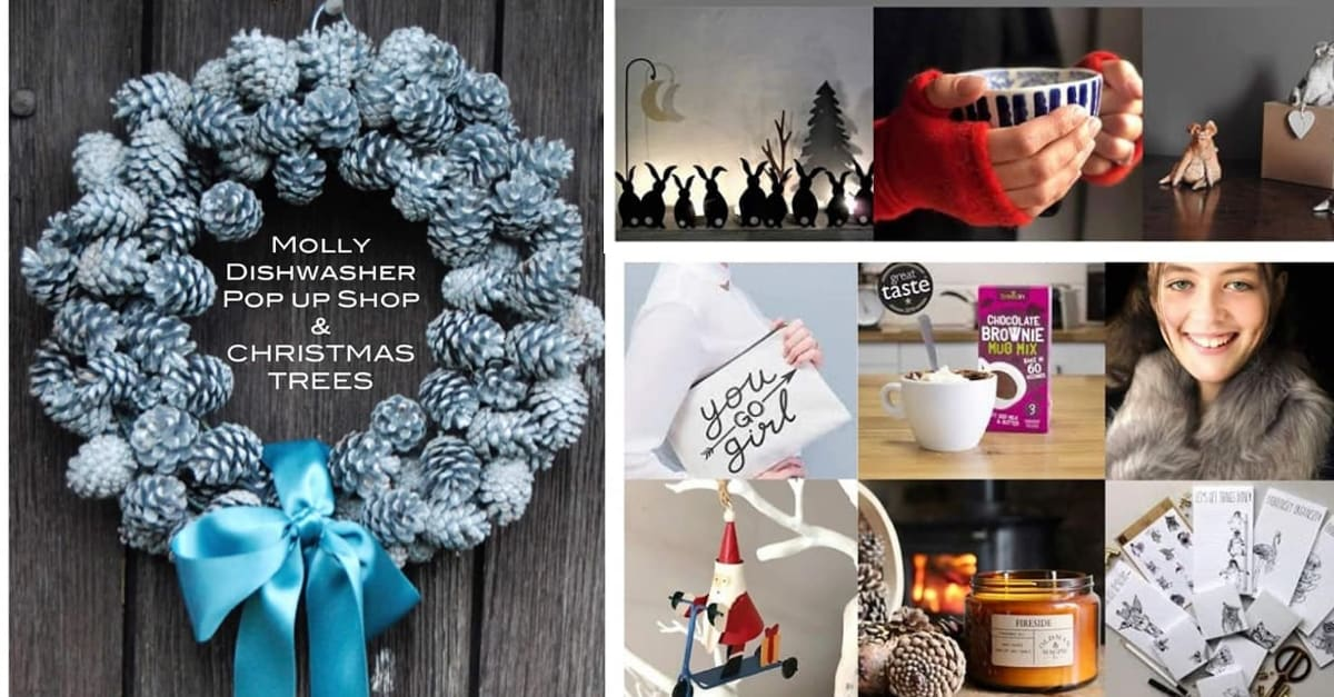 Molly Dishwasher Christmas Trees and Pop-Up Shop