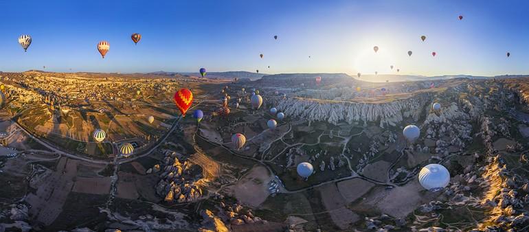 منطقة كابادوكيا الساحرة في تركيا المسافرون العرب
