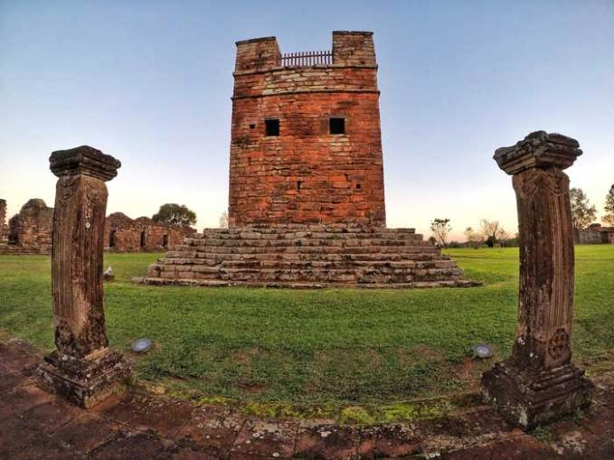 the bell tower in trinidad ruins