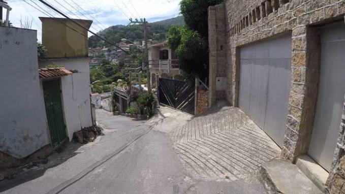 uphill slope
