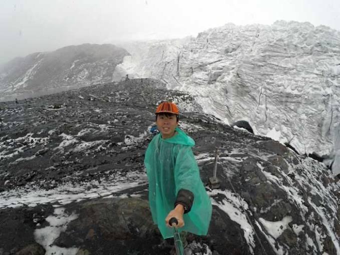 selfie at pastoruri glacier