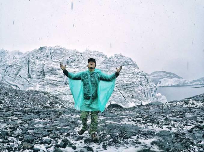 snow at pastoruri glacier