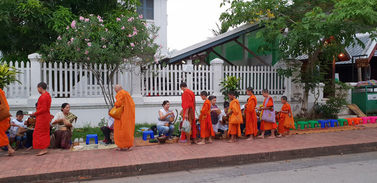 Alms Giving in Luang Prabang