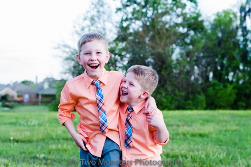 March 30 Spring pictures. I would have loved to have had these shirts and ties for Easter, but I bought them after Easter as part of a set that the boys need for a wedding later this year. I can't stand the cuteness.
