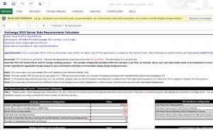 Exchange 2013 Server role requirements calculator