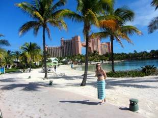Atlantis, after swimming with the dolphins