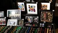Bad Boy Geek stall - Lego figures framed
