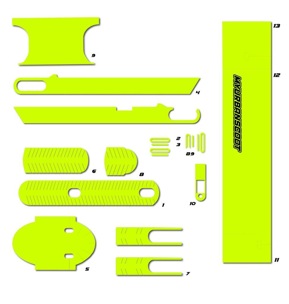 vinilos para patinete eléctrico xiaomi m365 pro pro2 1s essential