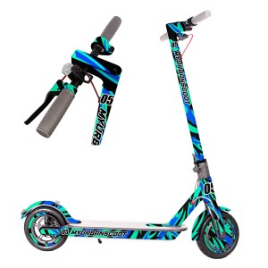 FIRE-FUEGO-AZUL-XIAOMI-PATINETE-ELECTRICO-SCOOT-SCOOTER