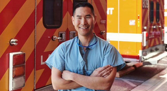 To serve and protect, USC trauma surgeon moonlights as a cop.