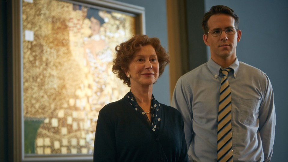 Helen Mirren and Ryan Reynolds in Woman In Gold.