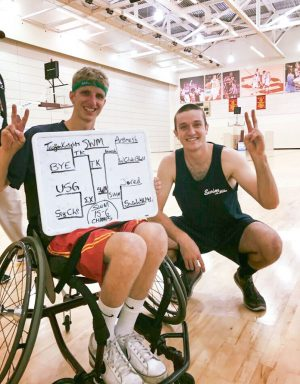 Wentz founded the Swim With Mike wheelchair basketball tournament. (Photo/Courtesy of Zack Wentz)