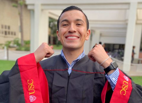 As a 'farm boy' turned master's graduate, Xavier Hernandez III sets an example for others