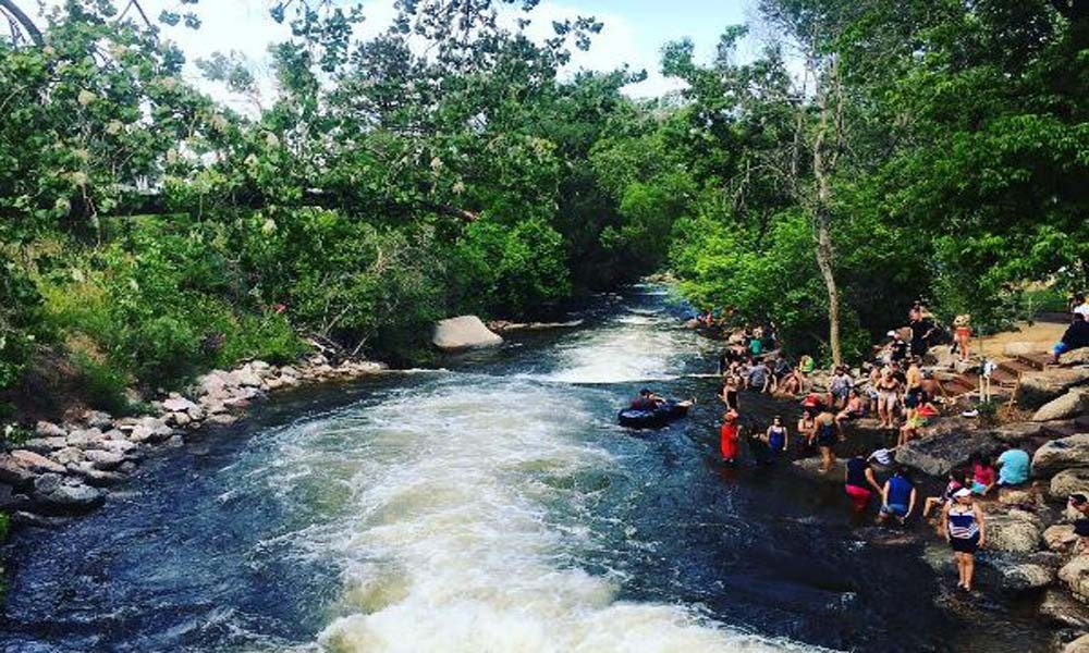 tubing down Boulder Creek