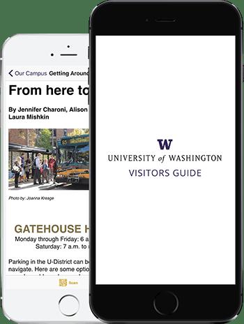 Visit UW App on 2 iPhones