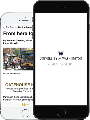 Visit UW App on 2 iPhones