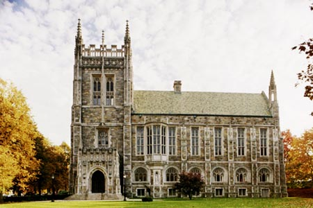Outside Bapst Library - Boston College