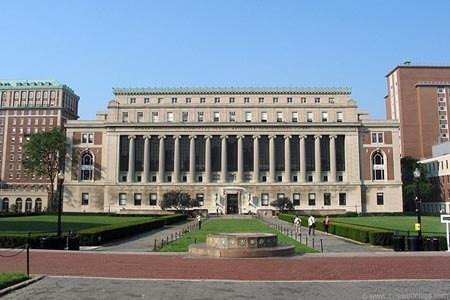 Outside Butler Library - Columbia University