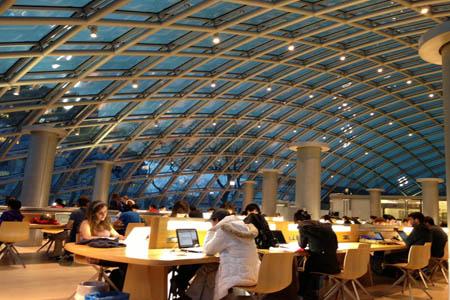 Inside Joe and Rika Mansueto Library – University of Chicago