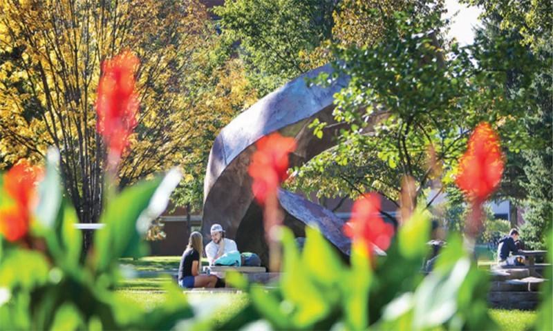 UND campus in spring