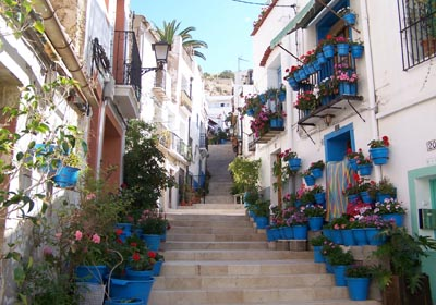 the streets of Alicante Spain