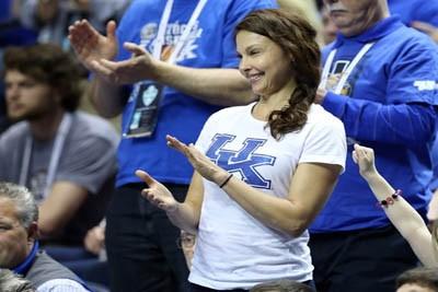 Ashley Judd at a Kentucky Basketball game