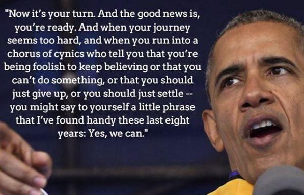 President Obama graduation quote