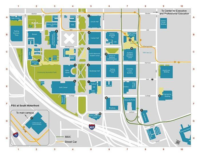 Portland State University map