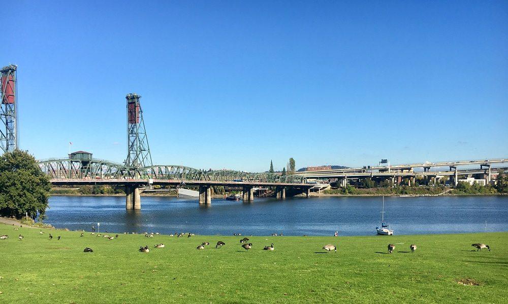 Portland river front