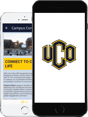 Visit UCO App on two phones